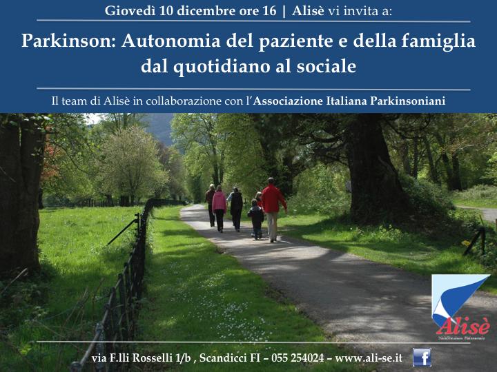 Parkinson Firenze Scandicci – Autonomia del paziente e della famiglia