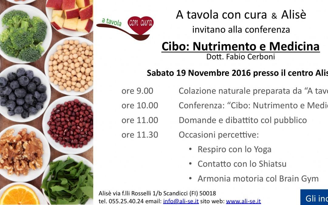 Conferenza – Cibo: Nutrimento e Medicina