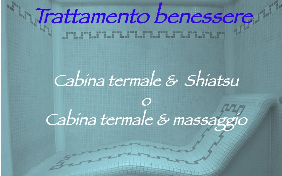 Trattamento Benessere – Terme + Shiatsu o Terme + massaggio