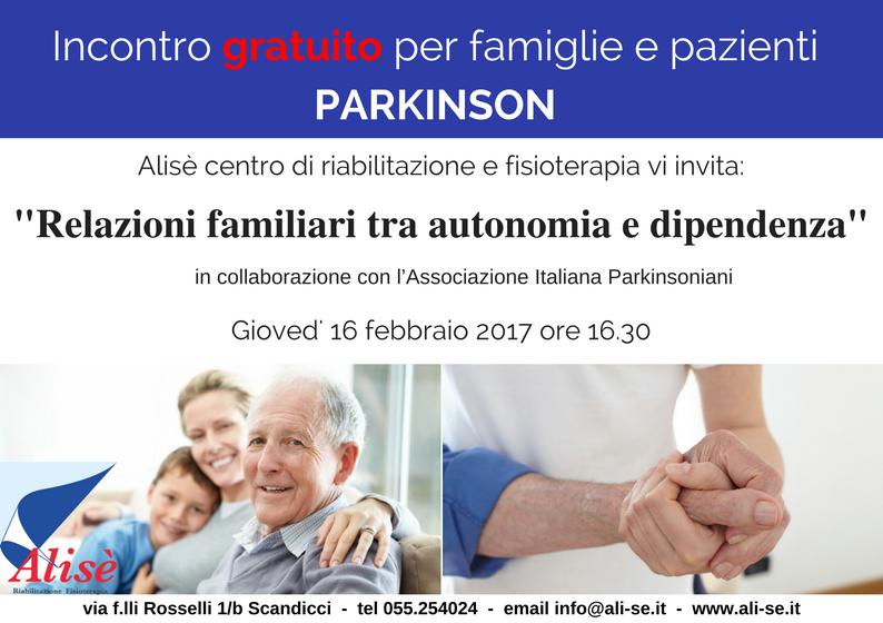 Parkinson: relazioni familiari tra autonomia e dipendenza