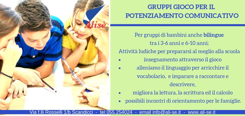 Gruppi gioco per il potenziamento comunicativo